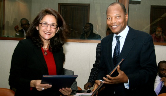 IMF Deputy Managing Director Ms Nemat Shifak and ACP Secretary General Dr Mohamed Ibn Chambas